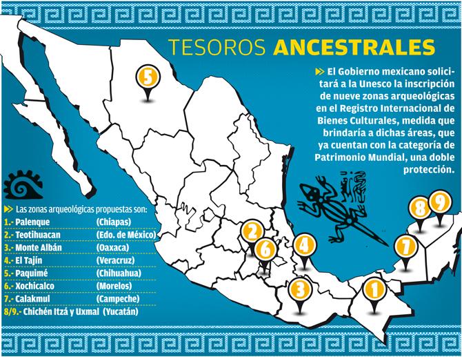Zonas arqueológicas que son Patrimonio Mundial en México